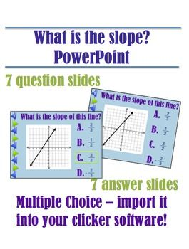 what is the slope multiple choice powerpoint middleschoolmaestros