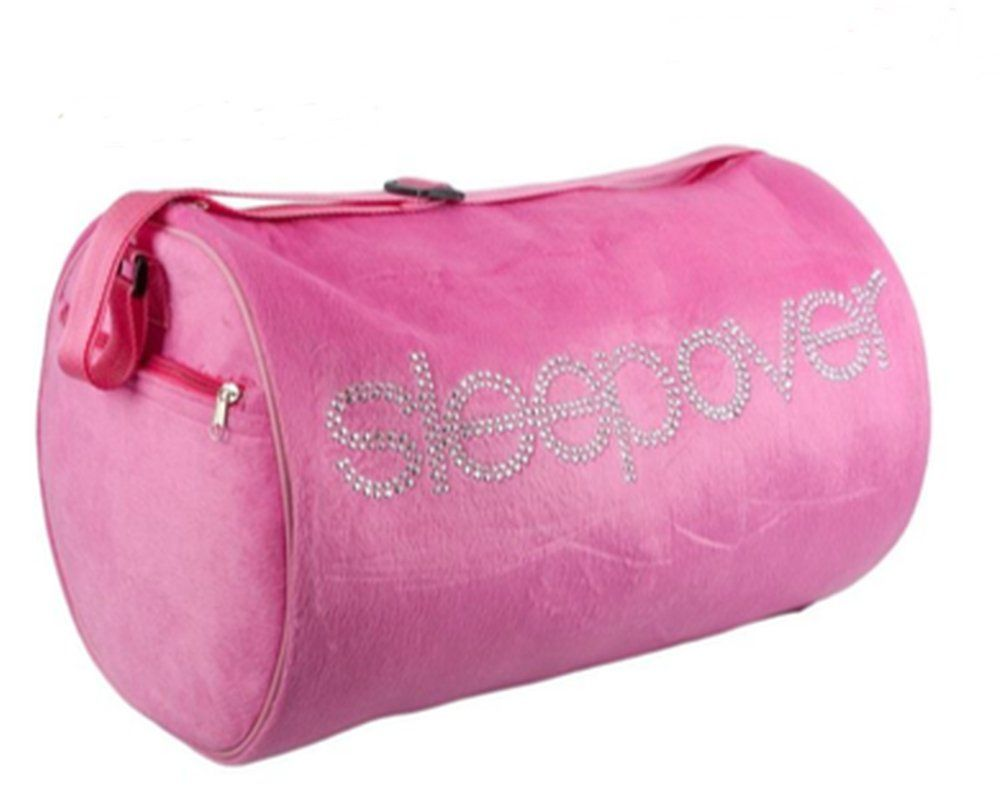 S Sleepover Bags In Pink And Black Age 3 12 Plush
