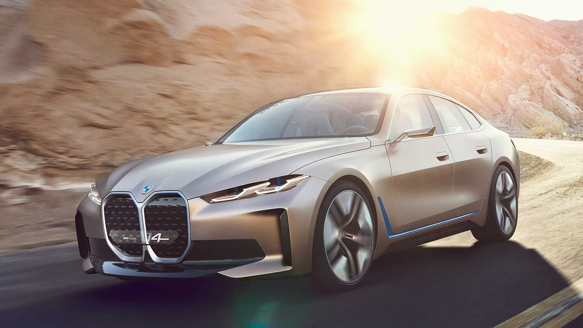 Bmw I4 Concept Revealed With 530 Hp 395 Kw And 600km Range In 2020 Bmw Concept Bmw Concept Car Bmw