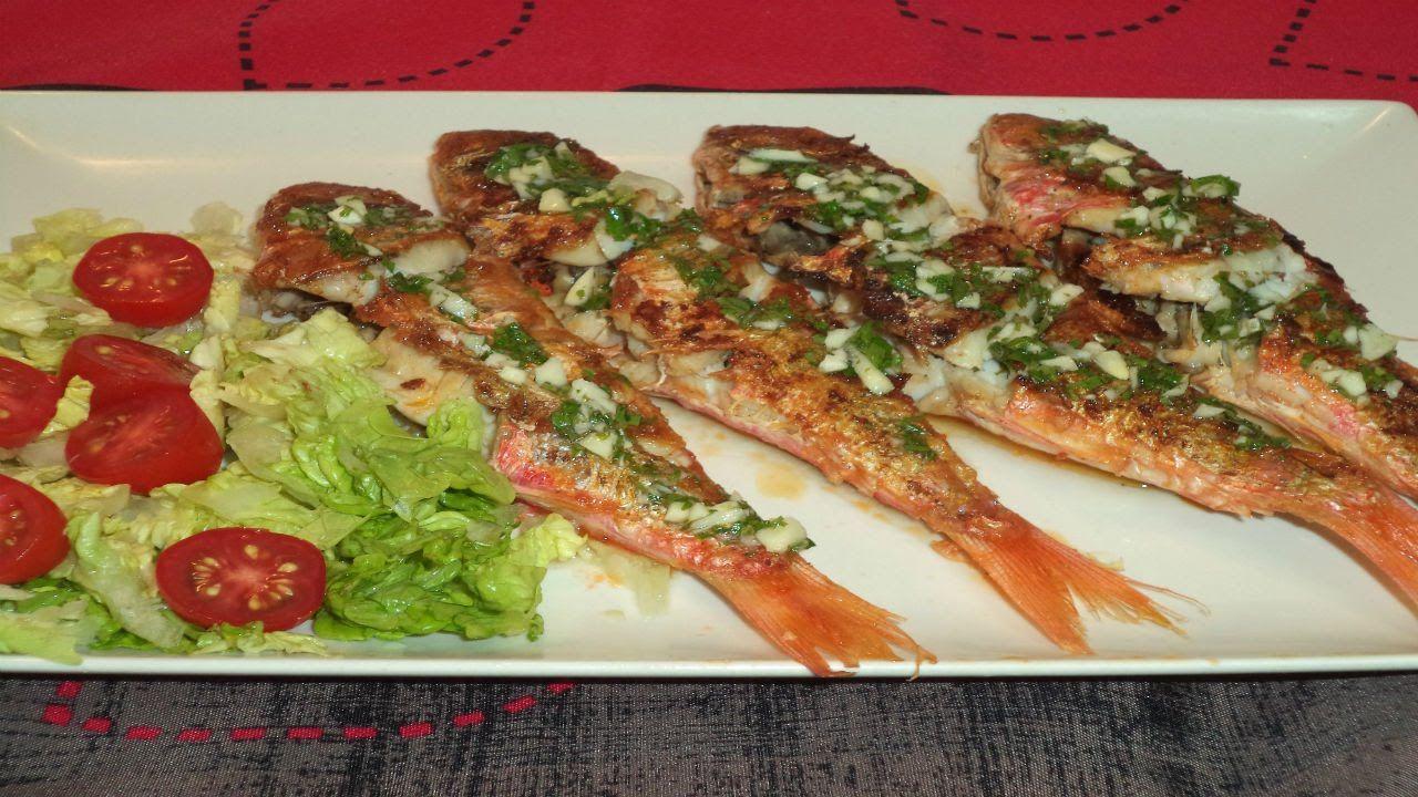 Salmonetes a la plancha - Recetas de Cocina