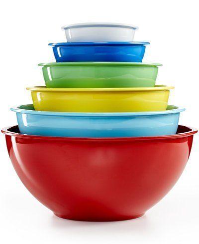 Martha Stewart Collection 6 Piece Melamine Bowl Set