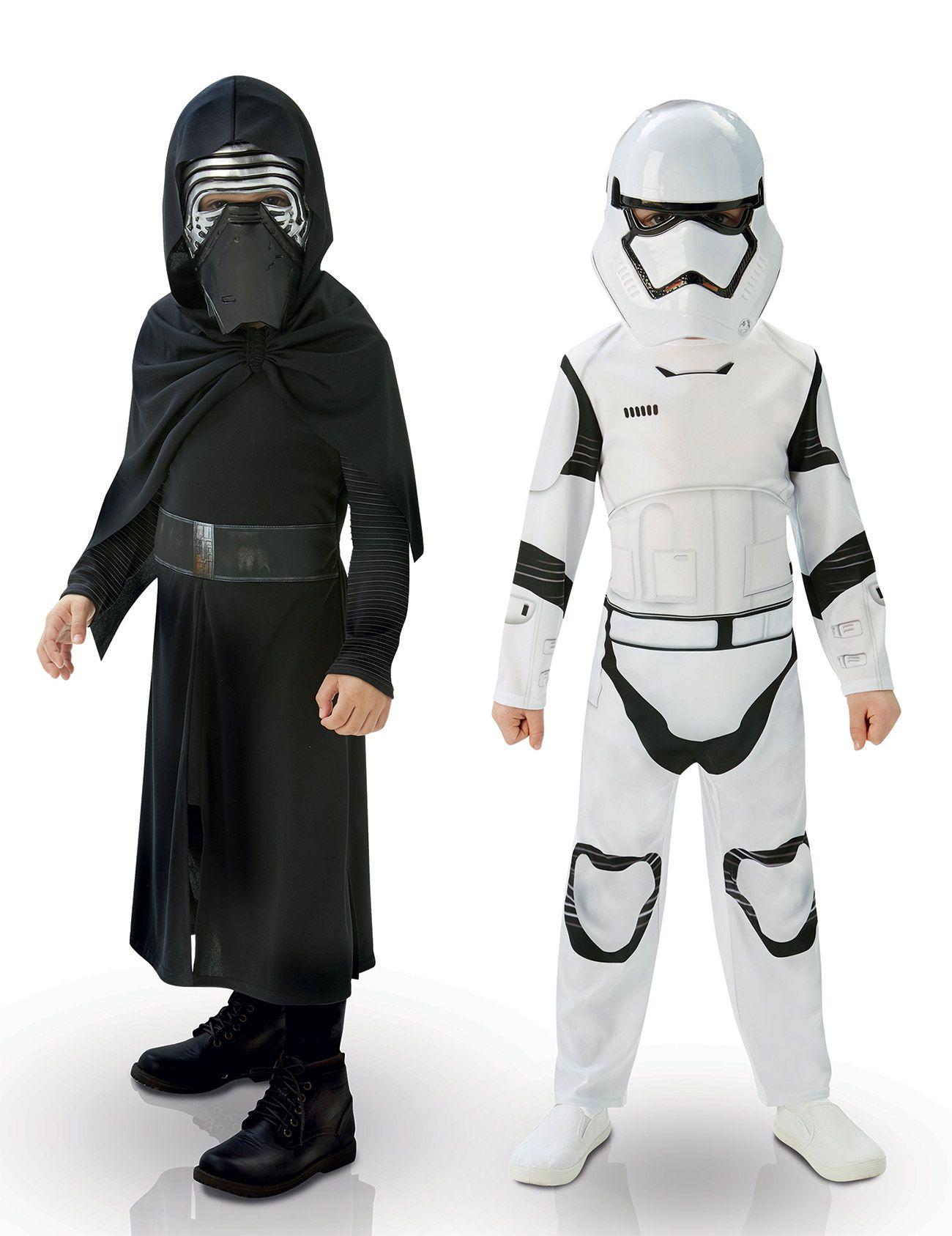 Kylo ren & stormtrooper star wars verkleidungen für kinder in schwarz und weiß