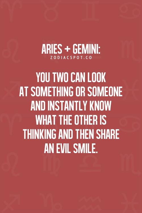 Gemini male and aries female