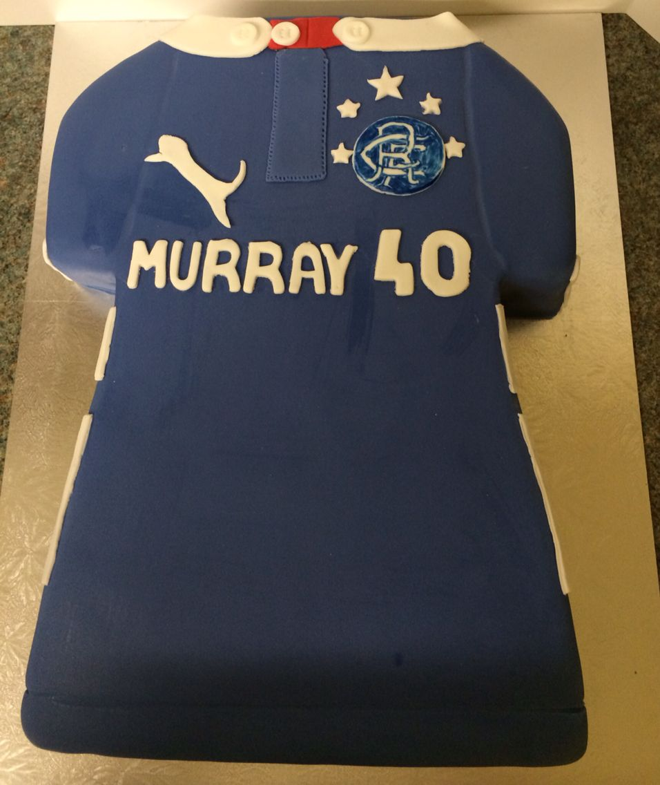Glasgow Rangers FC birthday cake Cakes Pinterest Birthday