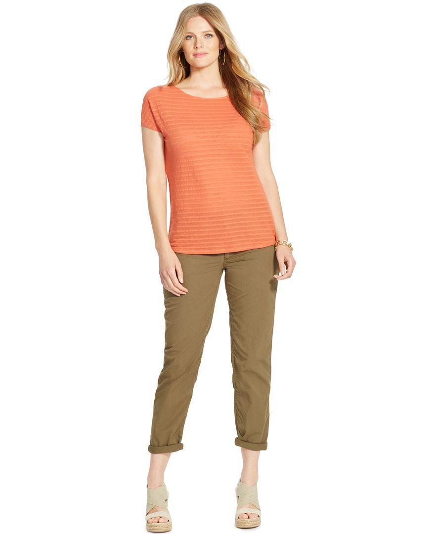 1f9204a8889 Lauren Ralph Lauren Plus Size Rolled-Cuff Chino Pants