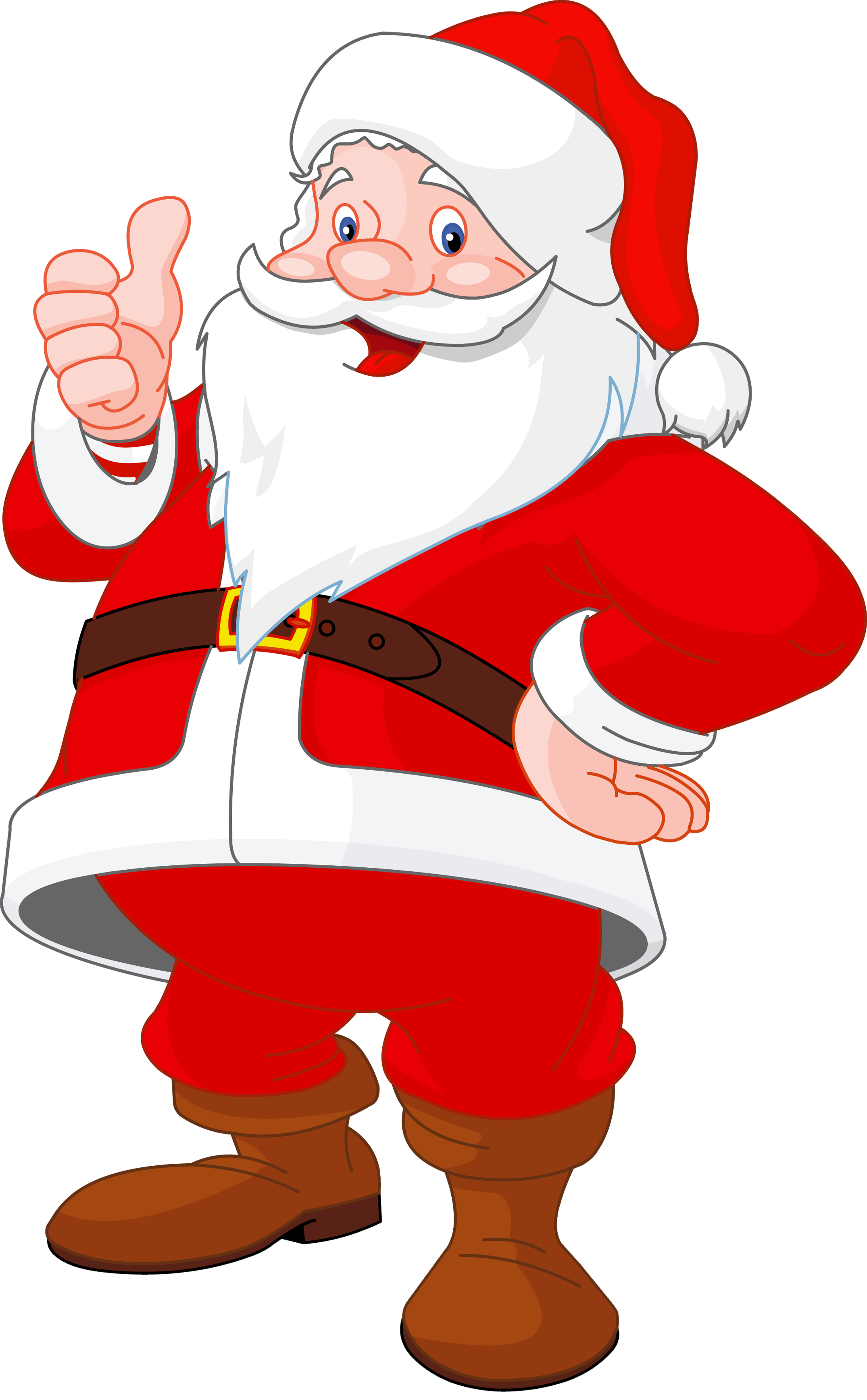 santa claus cartoon christmas clip art images on a transparent background - Santa Claus Santa Claus Santa Claus