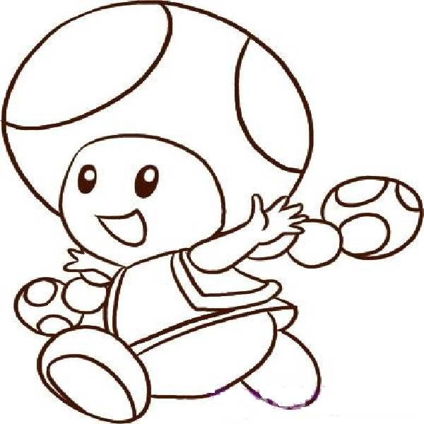 Super Mario Bros Printables Mario Toad Outline Coloring Pages Of
