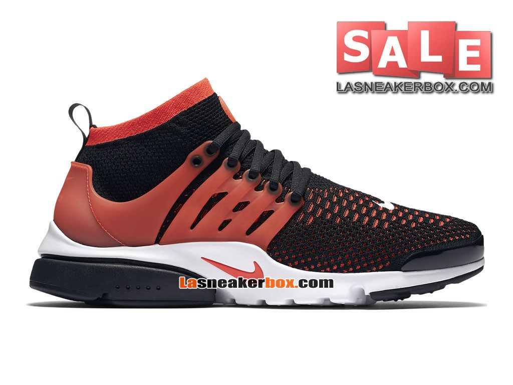 premium selection 14c83 e7889 ... get nike air presto ultra flyknit chaussures de sports nike pas cher  pour homme noir cramoisi