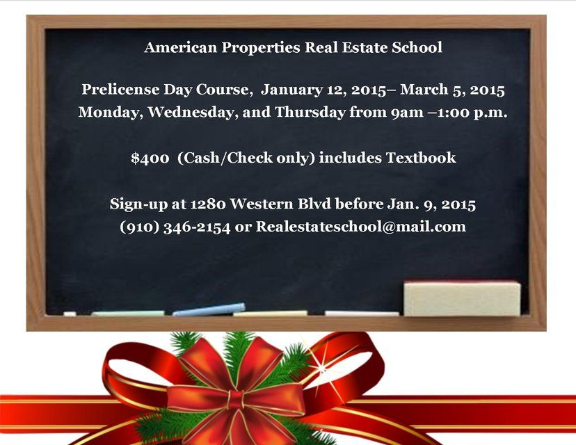 Interested in getting your N.C. Real Estate license? Sign