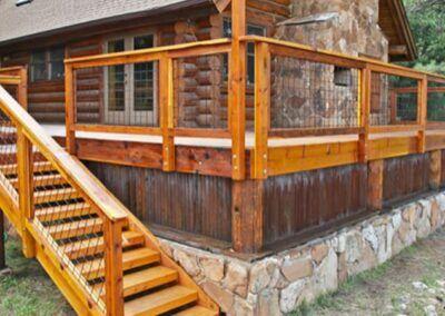 Gallery - Wild Hog Railing in 2020 | Redwood decking ...