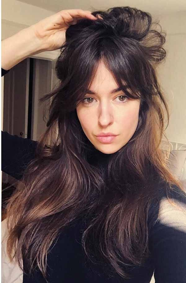 If You Think About Hairstyle Of Your Long Hair You May Go With Any Hairstyle You Like Or Any Hair Long Hair With Bangs Long Fringe Hairstyles Long Hair Styles