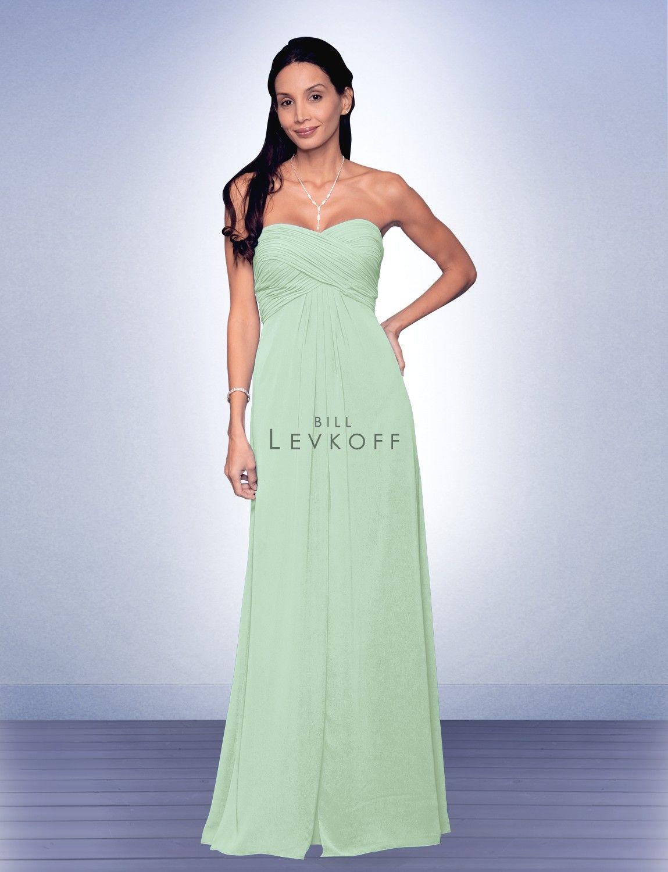 Bridesmaid Dress Style 537 Bill Levkoff Mohs Pistachio Bridesmaids Clover