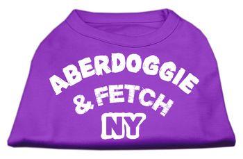 Mirage Pet Dog Cat Indoor Oudoor Apparel Gift Accessories Aberdoggie NY Screenprint Shirts Purple XXXL (20)