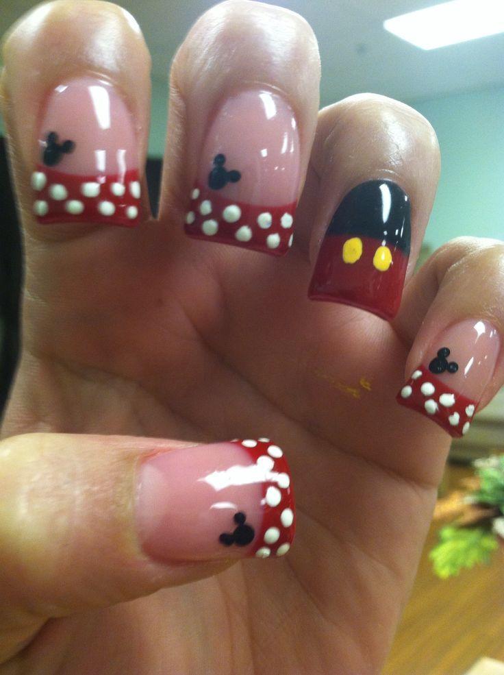 Mickey Mouse Nail Designs … | Nail Art & Designs | Pinterest | Uñas ...