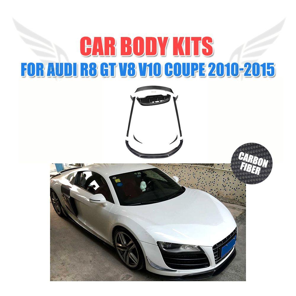 R Carbon Fiber Auto Body Kits Front Side Rear Lip Spoiler Side - Audi auto body