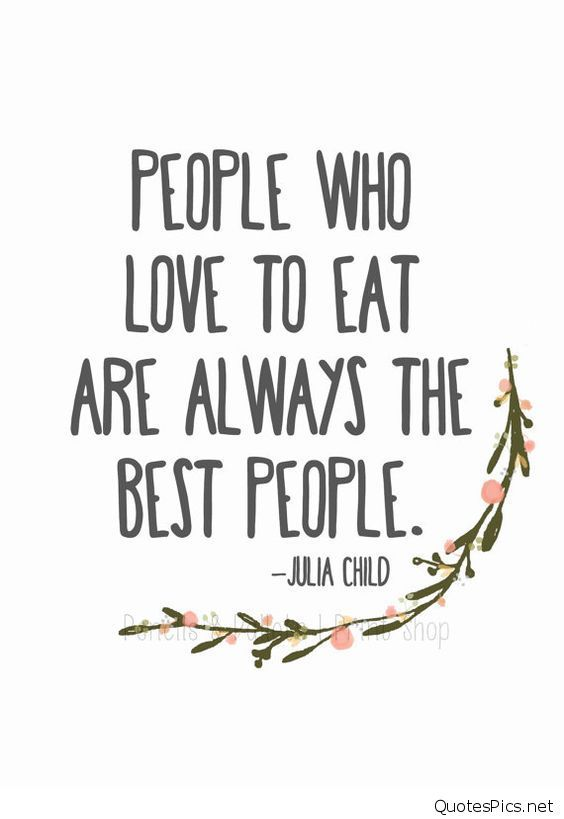 Julia Child Quote Kitchen Print By PencilsAndPallets
