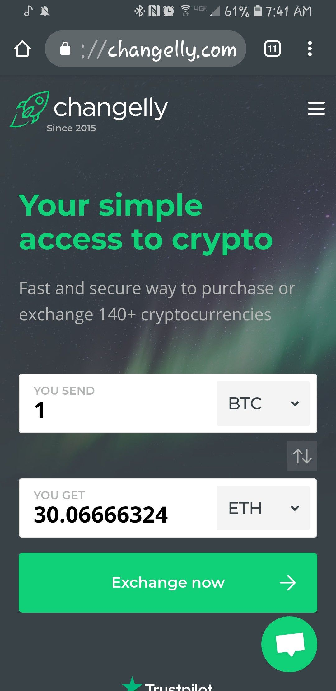 blockchain bitcoin exchange rate