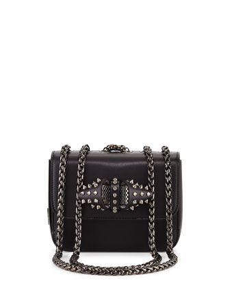 7abe9874558 Sweet Charity Baby Calfskin Shoulder Bag, Black by Christian ...