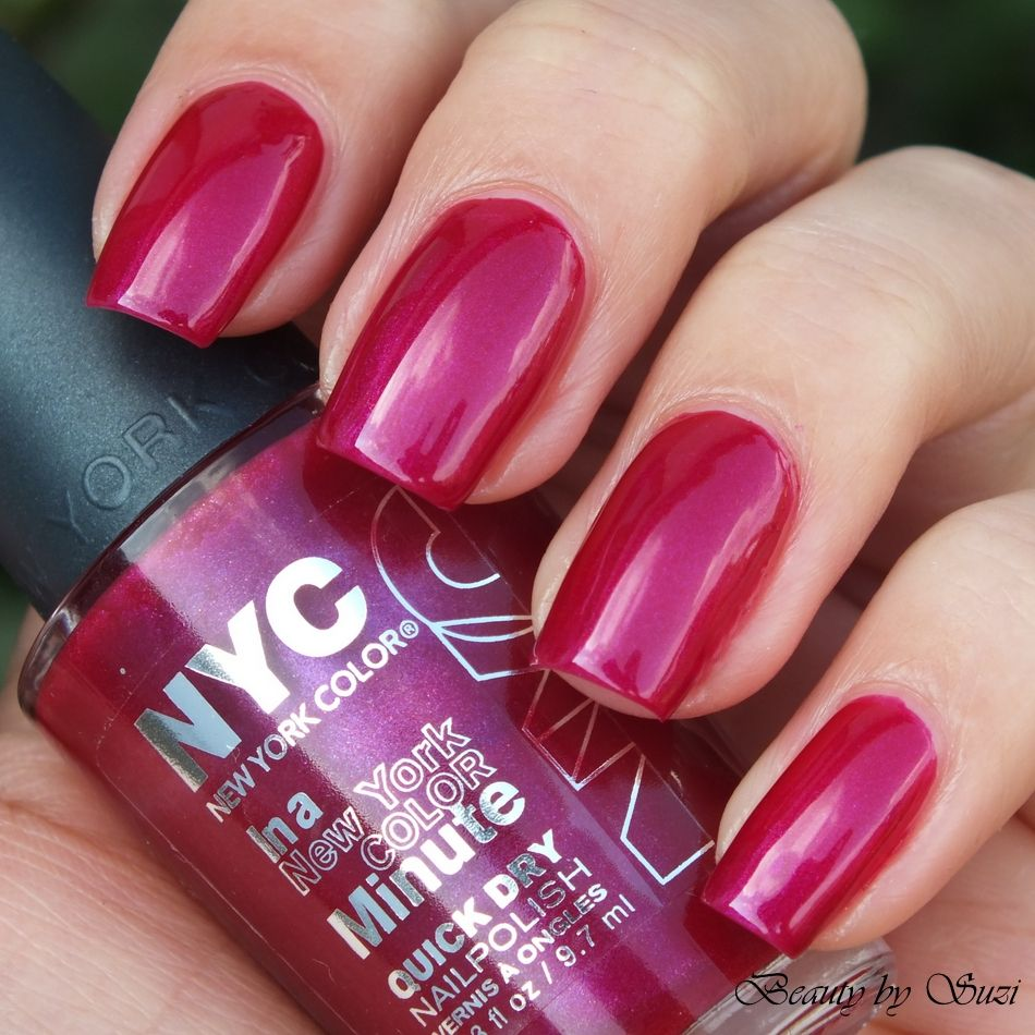 NYC In New York Color Quick Dry Nail Polish, 268 Fashion Ave Fuchsia ...