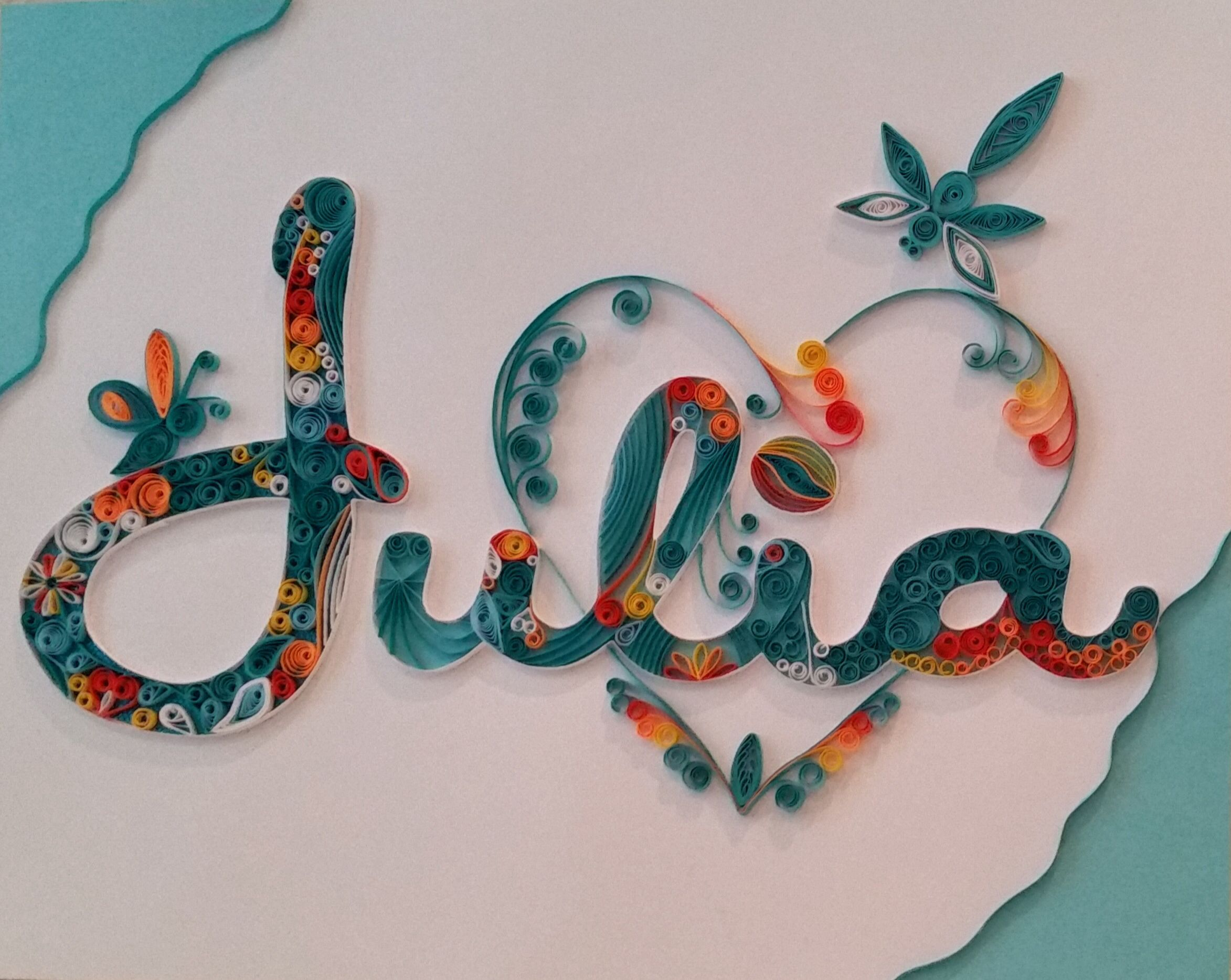 Quilling name julia craft crafts more crafts for Quilling paper craft