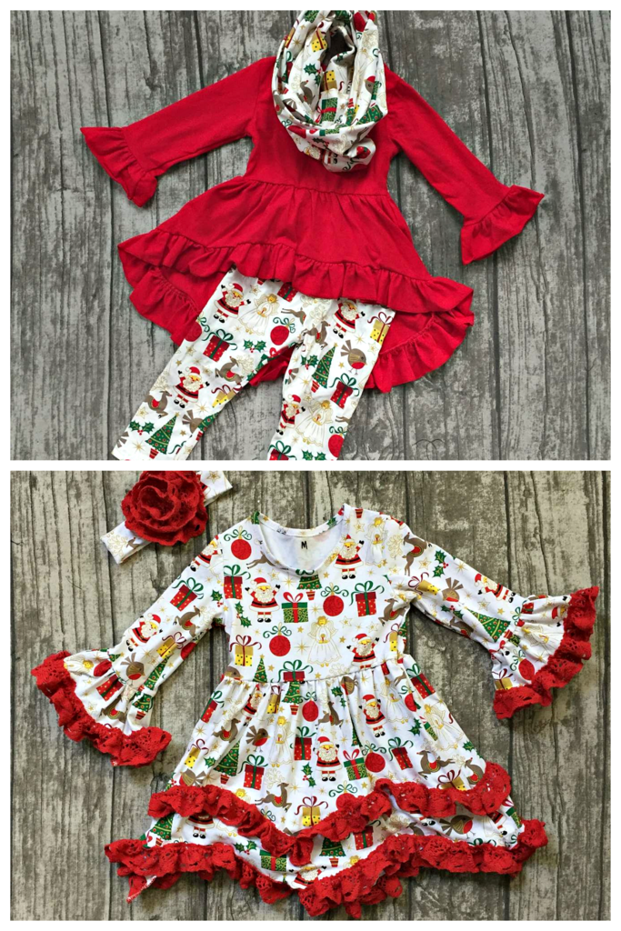 tis the season collection an adorable christmas outfit for your little girl starting at just 13 50 and here for one week only