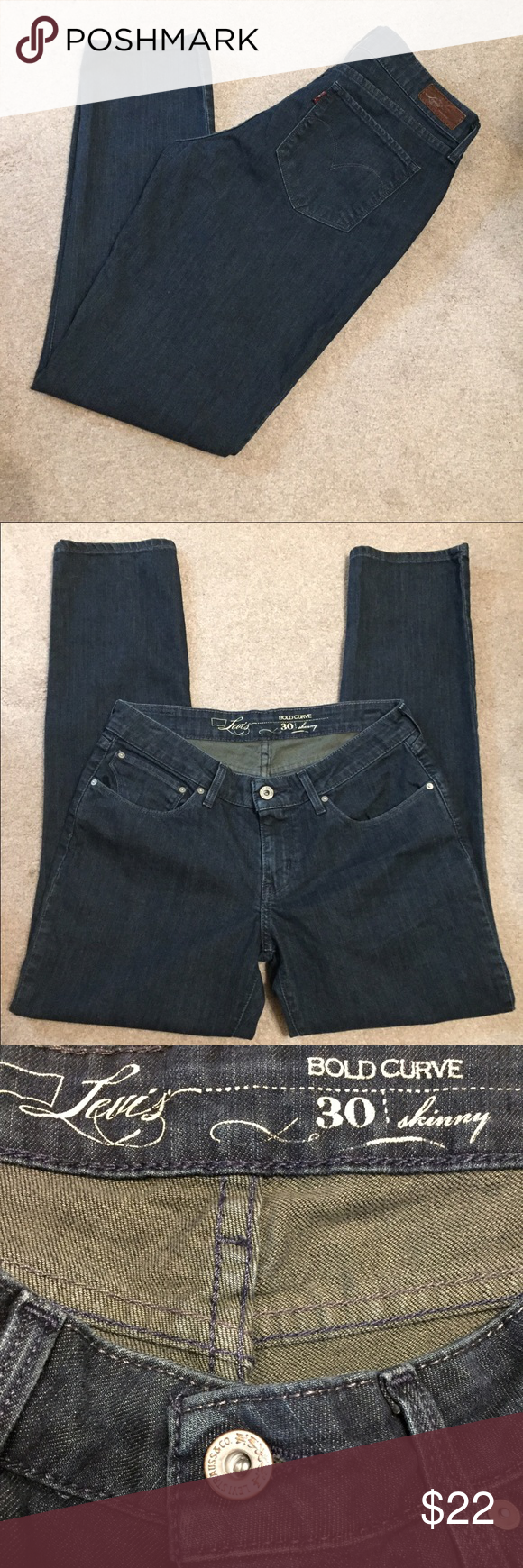 "Levis💥I ❤ offers💥 Bold curve. Skinny. Size 30. Inseam 28.5"".  (34) Levi's Jeans Skinny"