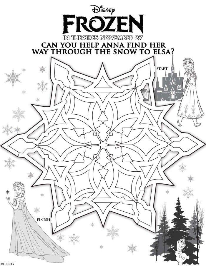 Anna Elsa Maze from Disney\'s Frozen   Disney Frozen crafts and ...