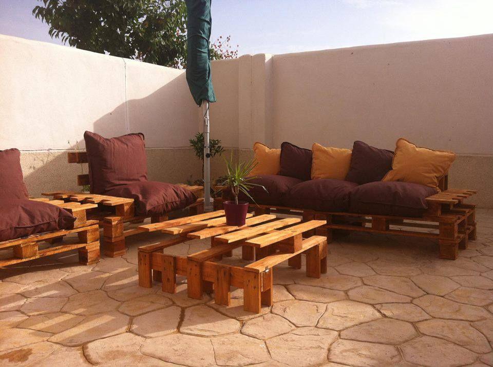 Muebles de terraza con palet muebles con paletas de for Muebles jardin madera palet