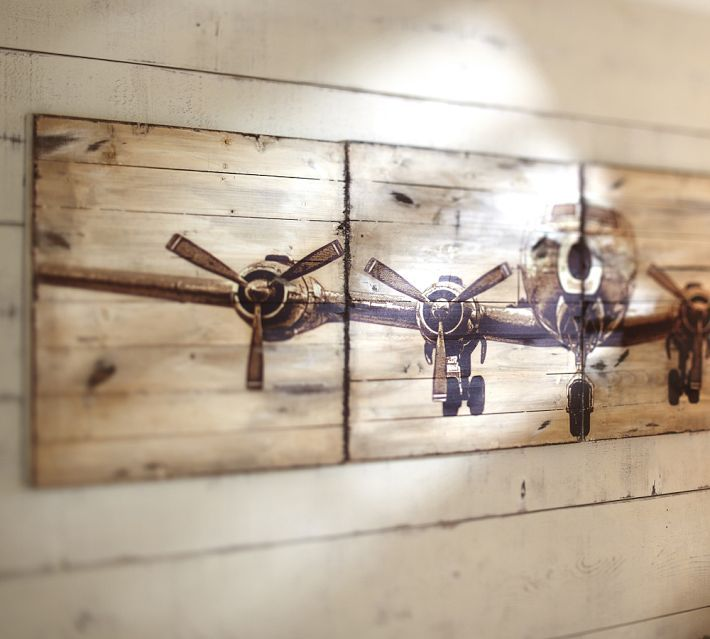 Planked Airplane Panels Pottery Barn Awesome Art Airplane Wall Art Wood Art Diy Plane Wall Art