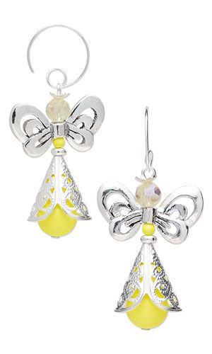 Earrings with Antiqued Silver-Plated Pewter Beads, Silver-Plated Brass Cones, SWAROVSKI ELEMENTS and Celestial Crystal® Beads - Fire Mountain Gems and Beads