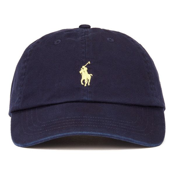 f449fe29971 Polo Ralph Lauren Men s Cap - Relay Blue Yellow ( 36) ❤ liked on Polyvore  featuring men s fashion