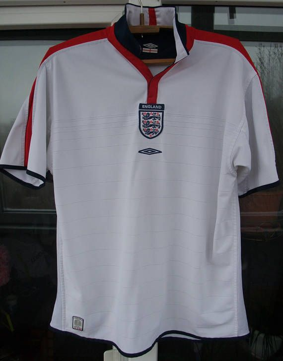 8b573fff2 t- shirt England national football team UMBRO football soccer 2003-2005 shirt  Jersey Team Product XL