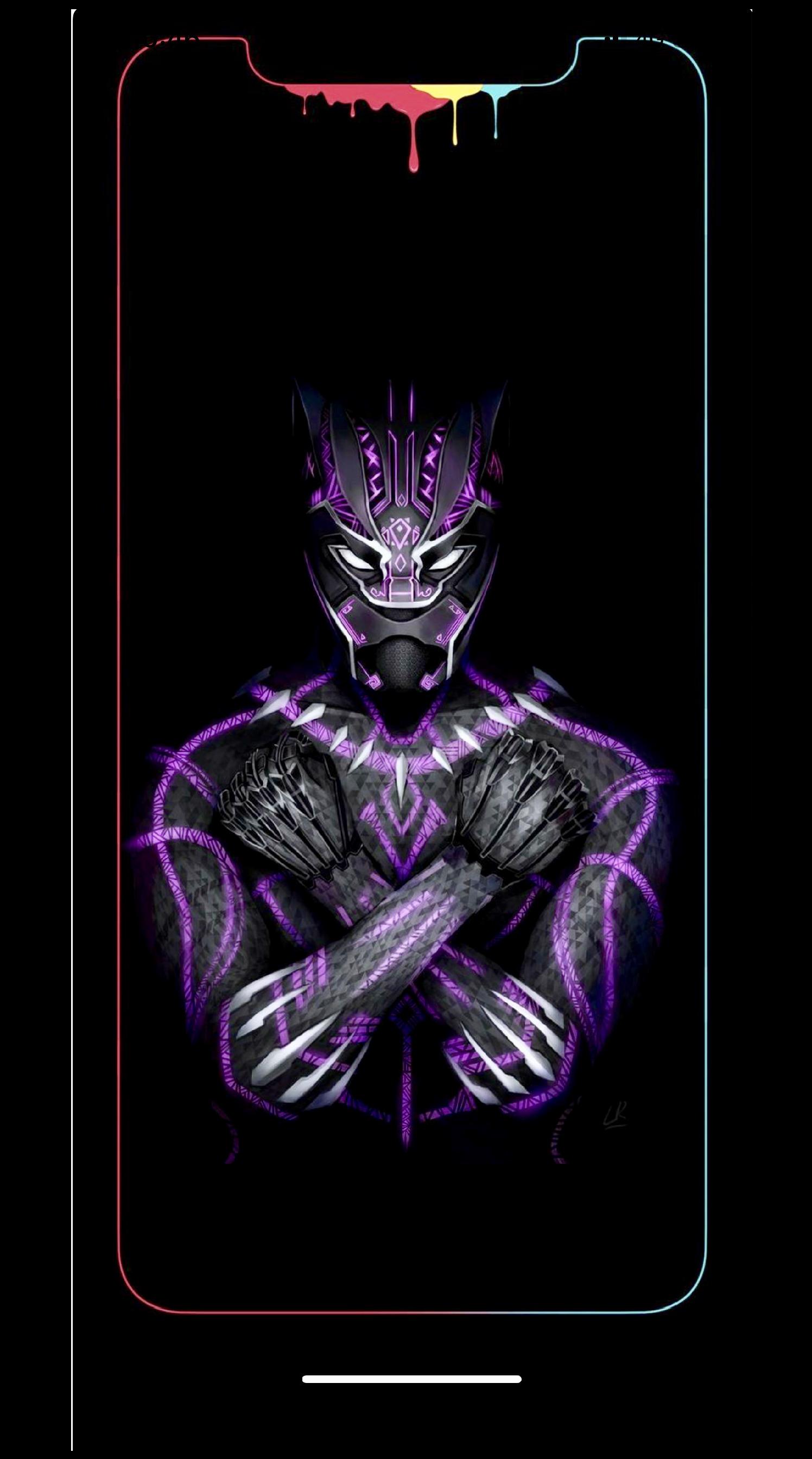 Black panther Wallpaper iPhone XS Mas Marvel wallpaper