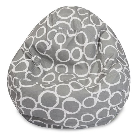 Strange Majestic Home Goods Indoor Gray Fusion Classic Bean Bag Machost Co Dining Chair Design Ideas Machostcouk