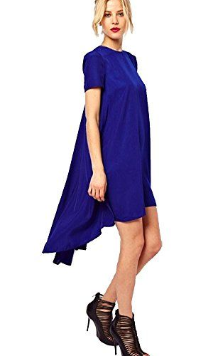 Ibagstyle Women's Short Sleeve Solid Color Cocktail Asymmetric Long Dress Ibagstyle http://www.amazon.com/dp/B00XCB66HA/ref=cm_sw_r_pi_dp_Euo7vb10N8MC3