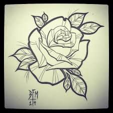 Image result for neo traditional rose tattoo flash