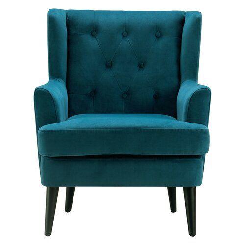 Best Celeste Wingback Chair Tufted Accent Chair Velvet 400 x 300