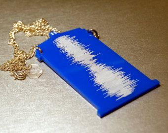 Doctor Who TARDIS Sound Wave Necklace