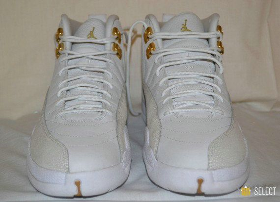 Authentic Air Jordan 12 Ovo AJ12 XII All White Basketball Shoe for Sale