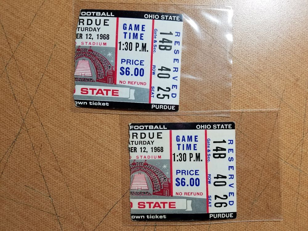 Details About 1982 Ohio State Vs Purdue Football Ticket Stub