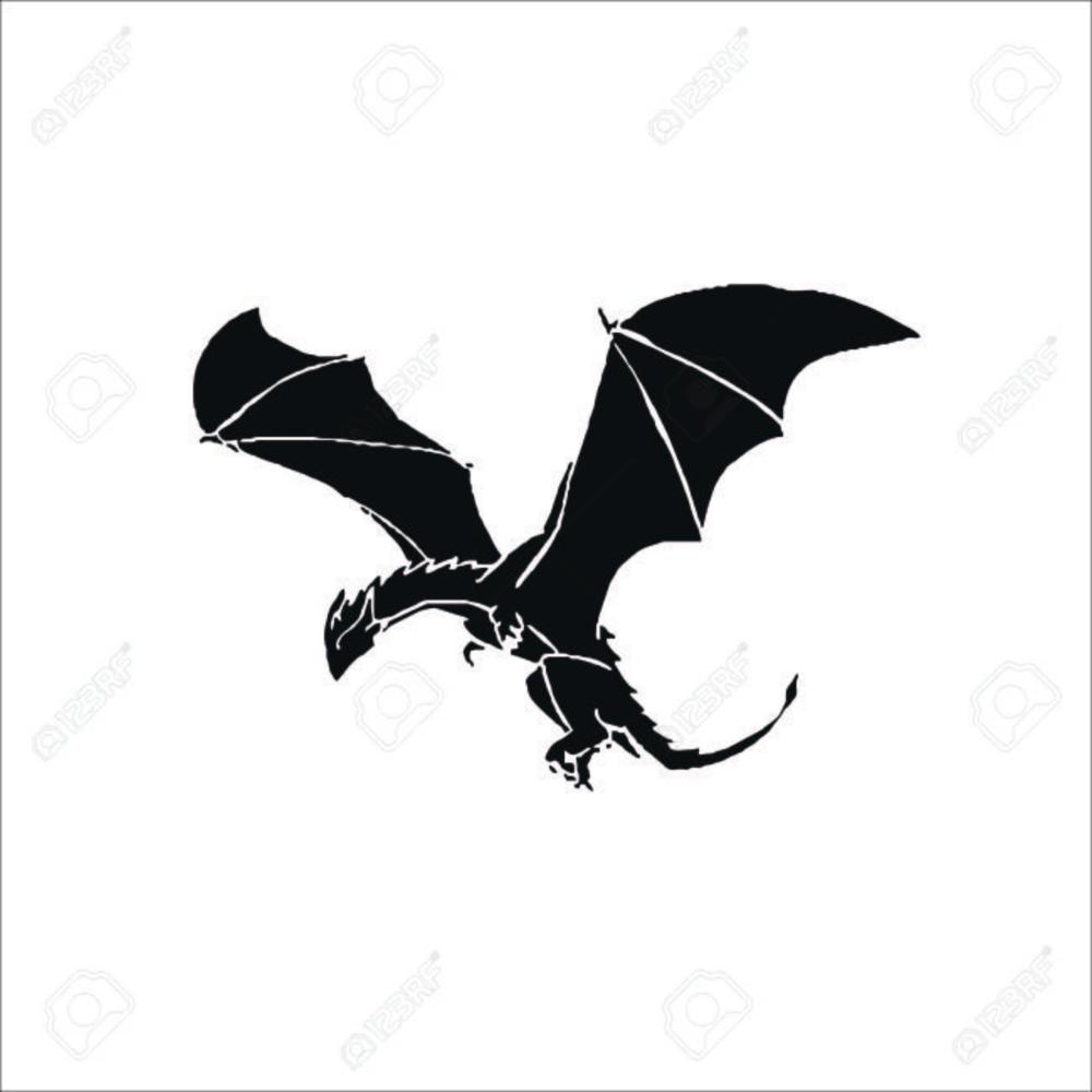 Flying Dragon Icon Dragon Icon Dragon Illustration Dragon Silhouette