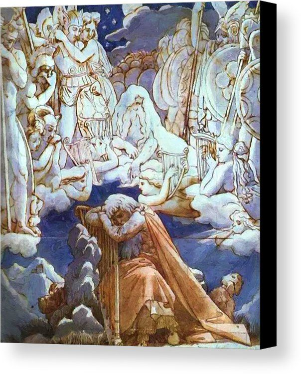 The Songs Of Ossian 1813 Canvas Print Canvas Art By Ingres Jean