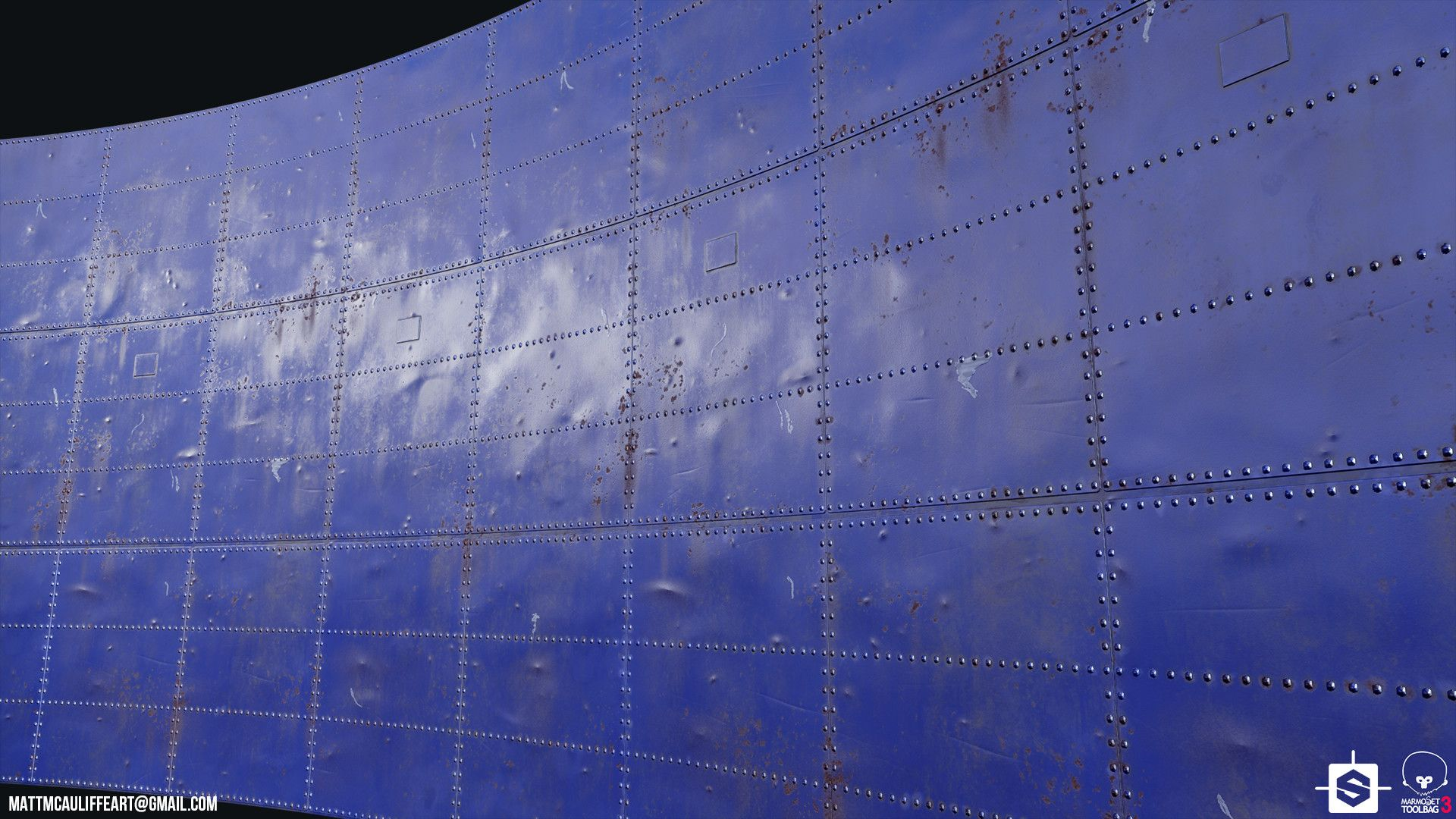 ArtStation - Painted Metal Panels - Substance Designer, Matt ...