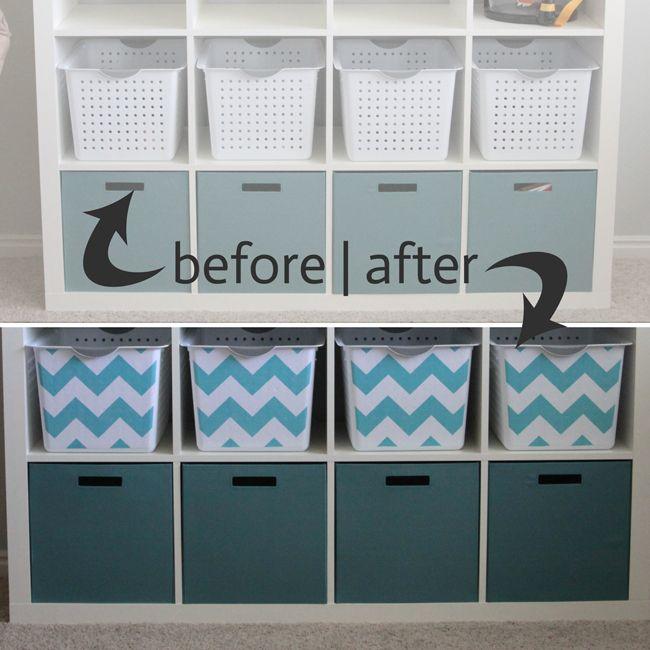 Get Organized With Easy DIY Fabric Covered Storage Bins   Itsalwaysautumn