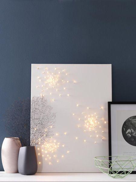 6 kreative ideen lampen einfach selber machen leinwand gestalten pinterest. Black Bedroom Furniture Sets. Home Design Ideas