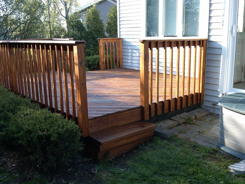 A simple deck for when your house is at ground level for What is the best wood for decking