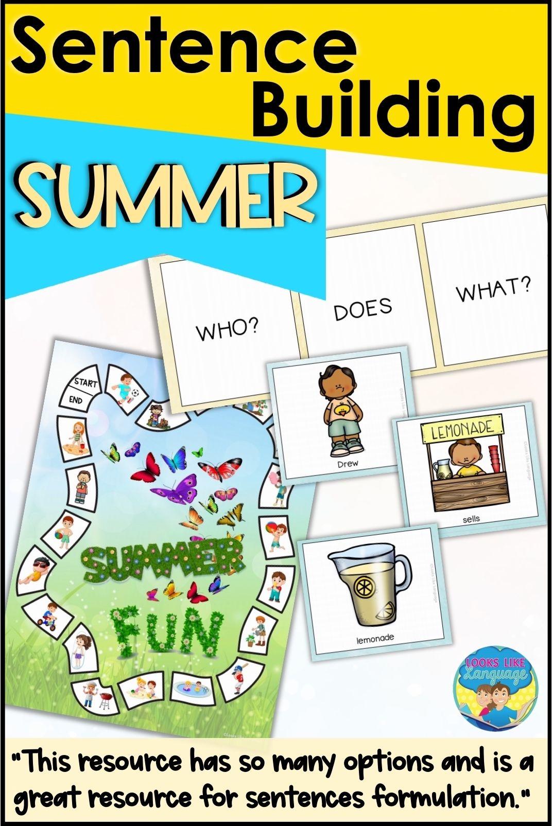 Sentence Building Picture Activities