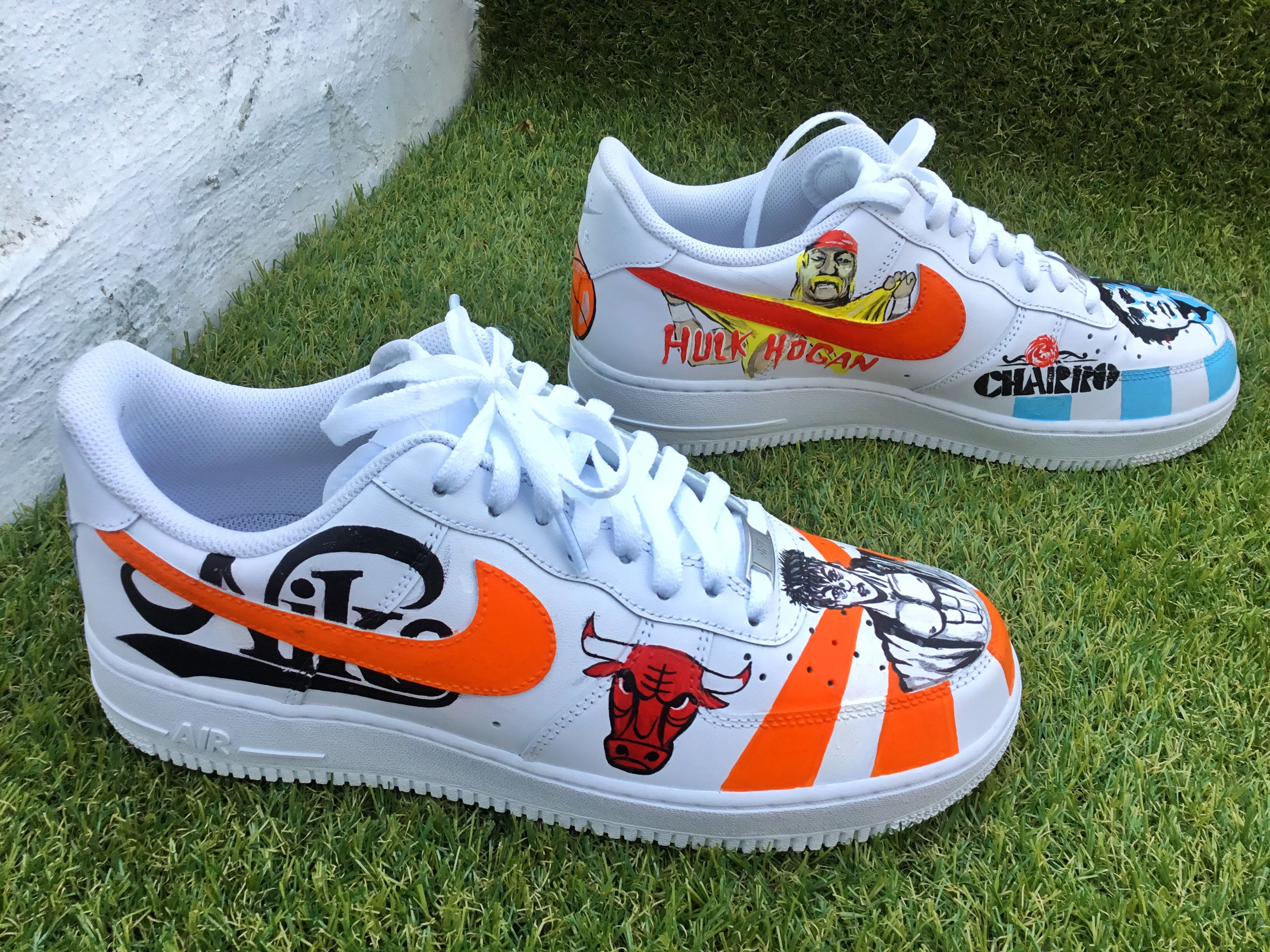 6b20465267c6b Custom painted Nike Air Force one sneakers by vmixo #vmixo ...