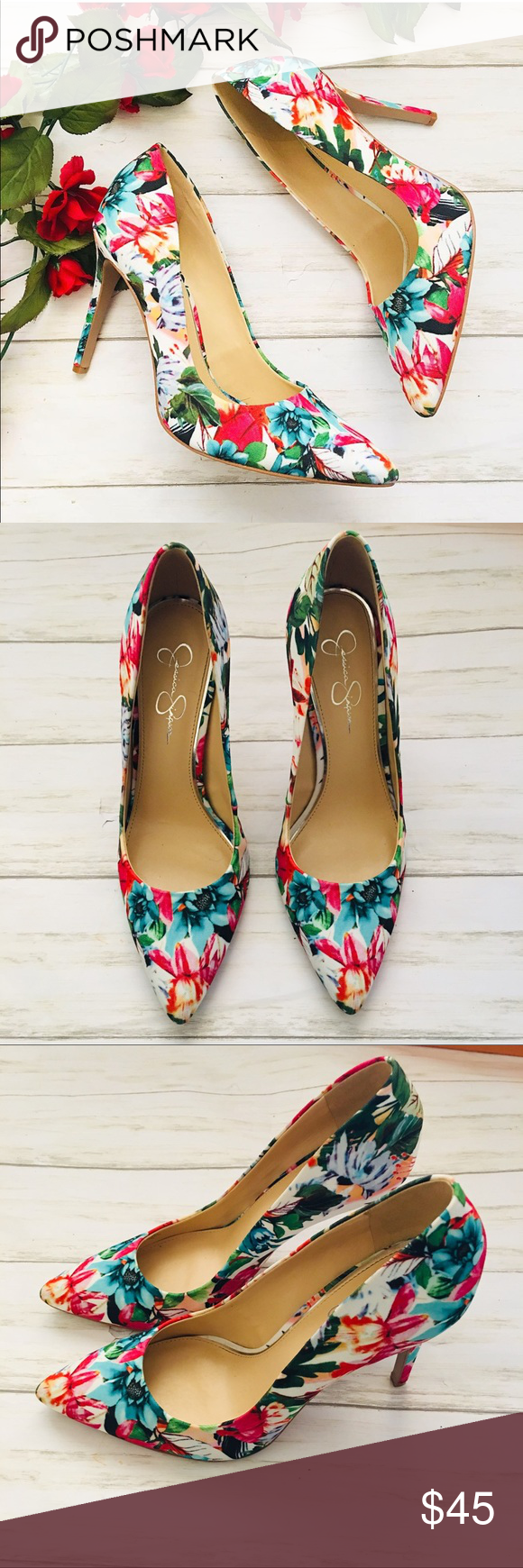 eba1d27141 Jessica Simpson| Floral Heels| Size 10 Jessica Simpson| Purla Floral Heels|  Size 10 Great condition Perfect for spring and summer Style comes with ease  ...