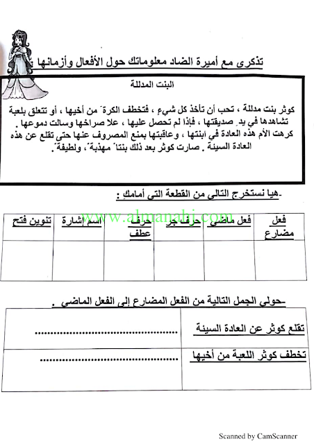 الصف الرابع لغة عربية الفصل الثاني فهم المقروء Grade